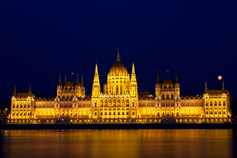 - The house of Parliament, Budapest, Hungary