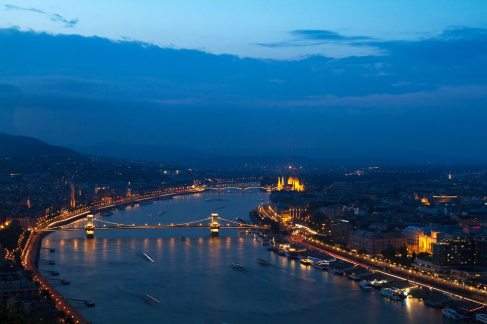 - Overview by night, Budapest, Hungary